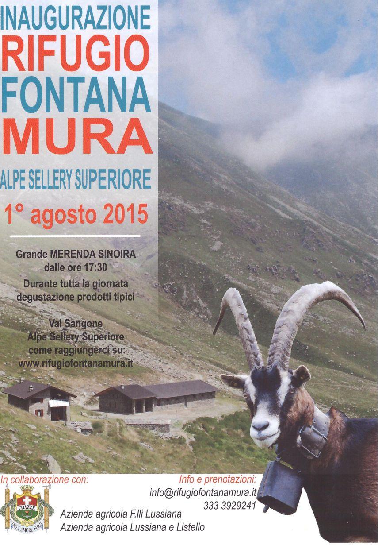 """Inaugurazione Rifugio """"Fontana Mura"""" Alpe Sellery Superiore"""