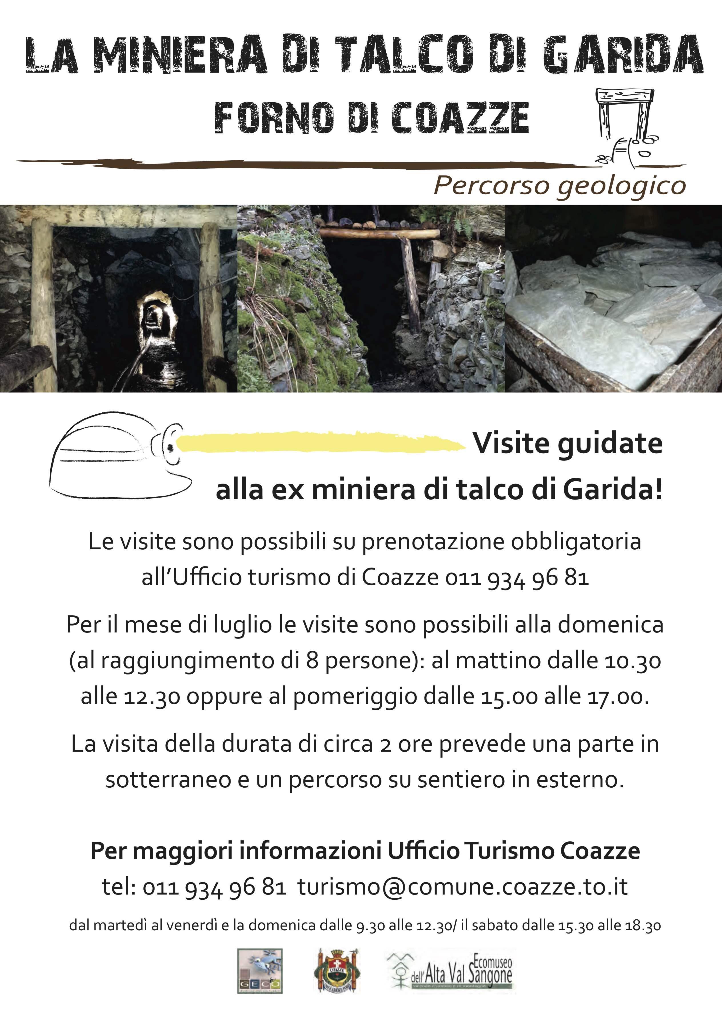 Informazioni visite Miniera di Garida