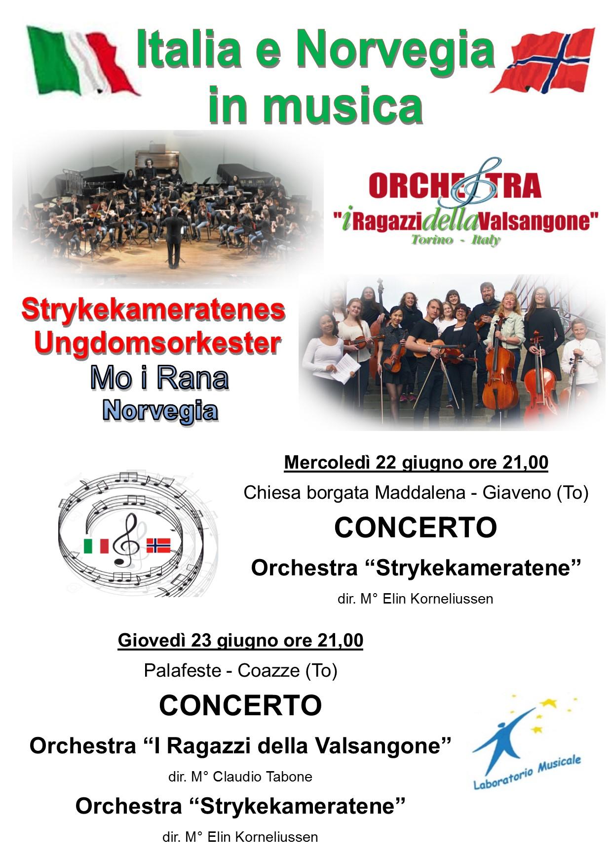 Italia e Norvegia in Musica