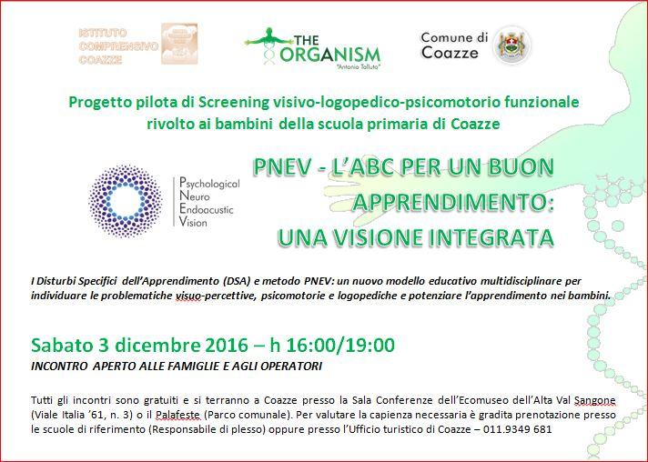 Progetto pilota di screening visivo-logopedico-psicomotorio funzionale rivolto ai bambini – Sabato 3 dicembre 2016
