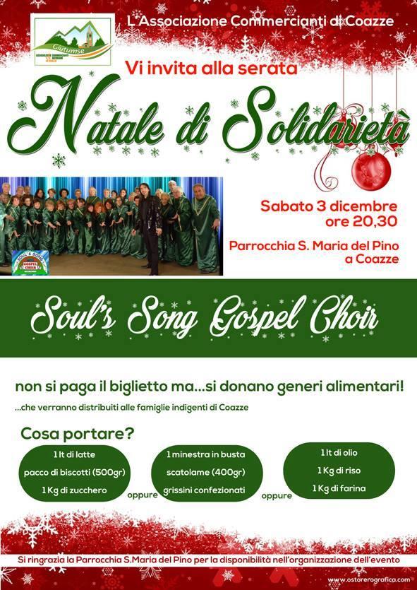 Natale di Solidarietà – sabato 3 dicembre 2016 – Parrocchia S. Maria del Pino