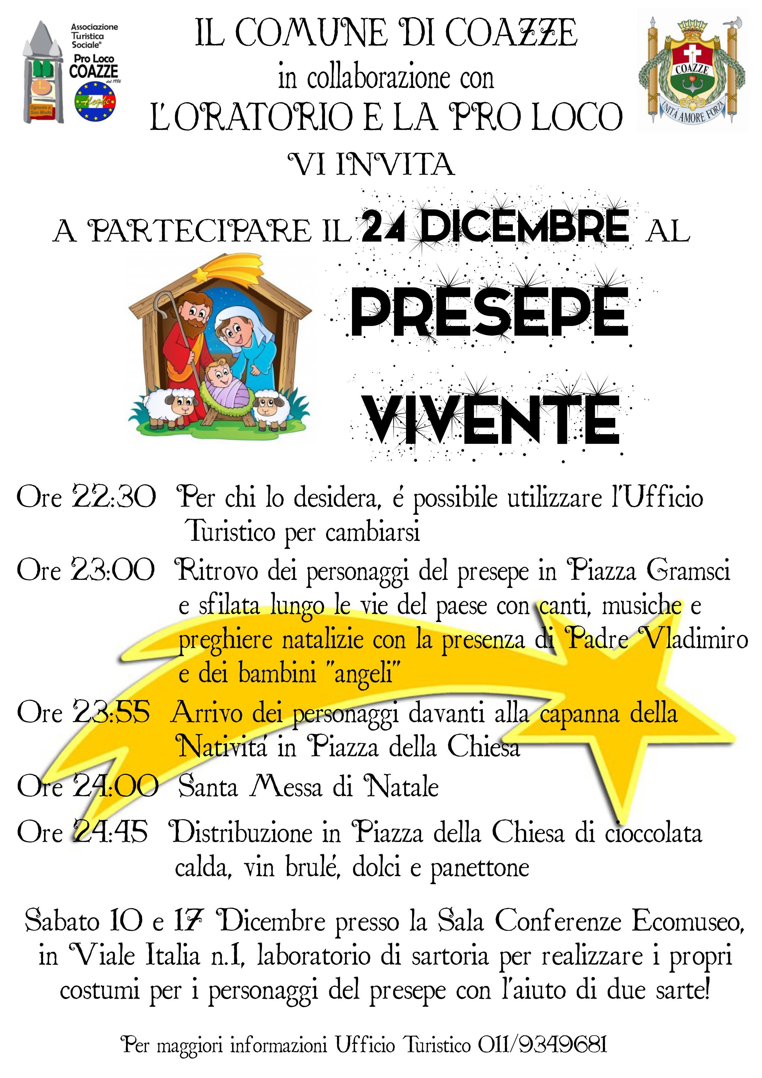 Presepe Vivente – 24 dicembre 2016 – Coazze