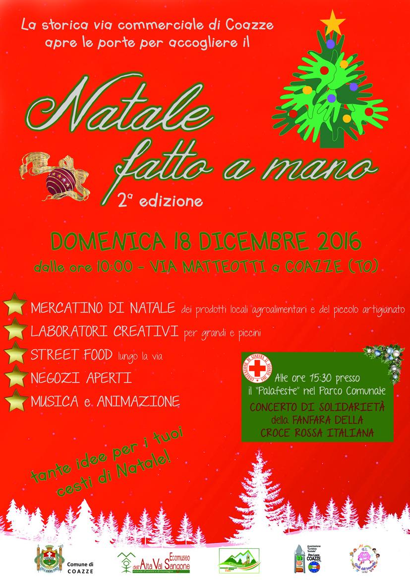 Natale fatto a mano – domenica 18 dicembre 2016 – Via Matteotti a Coazze