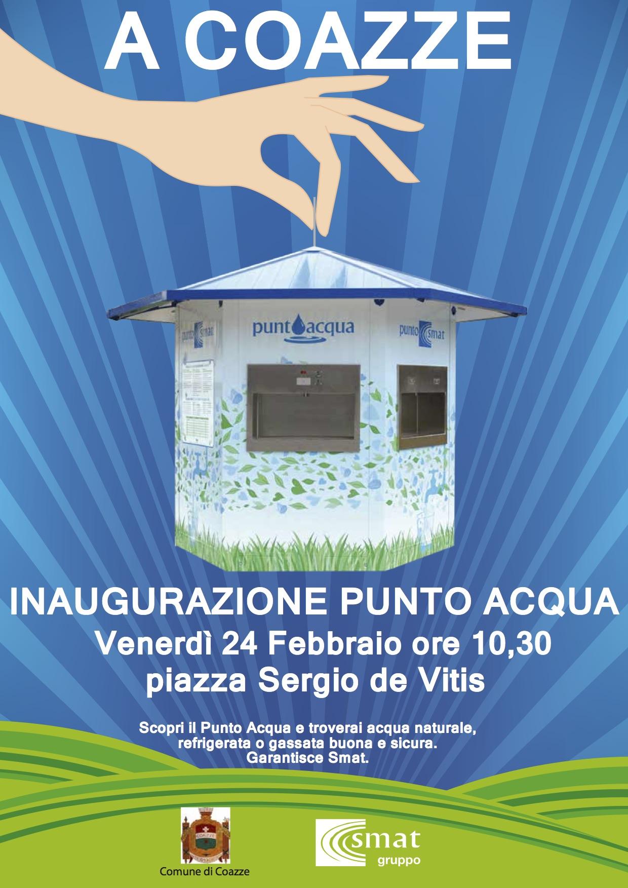 Inaugurazione punto acqua – venerdì 24 febbraio 2017