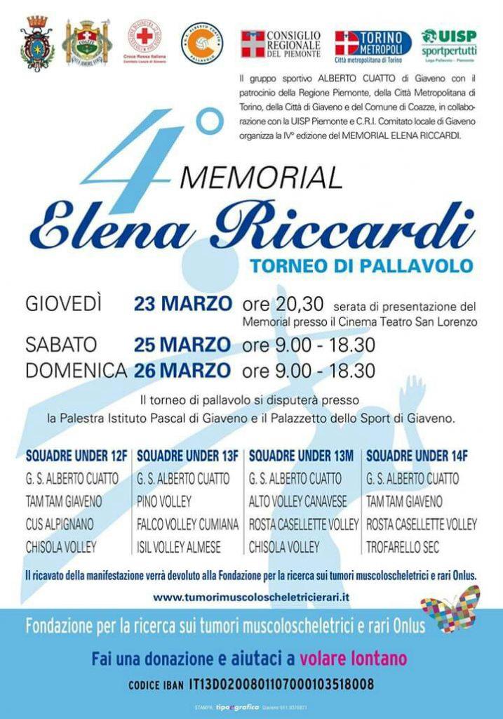 """4° Memorial """"Elena Riccardi"""""""