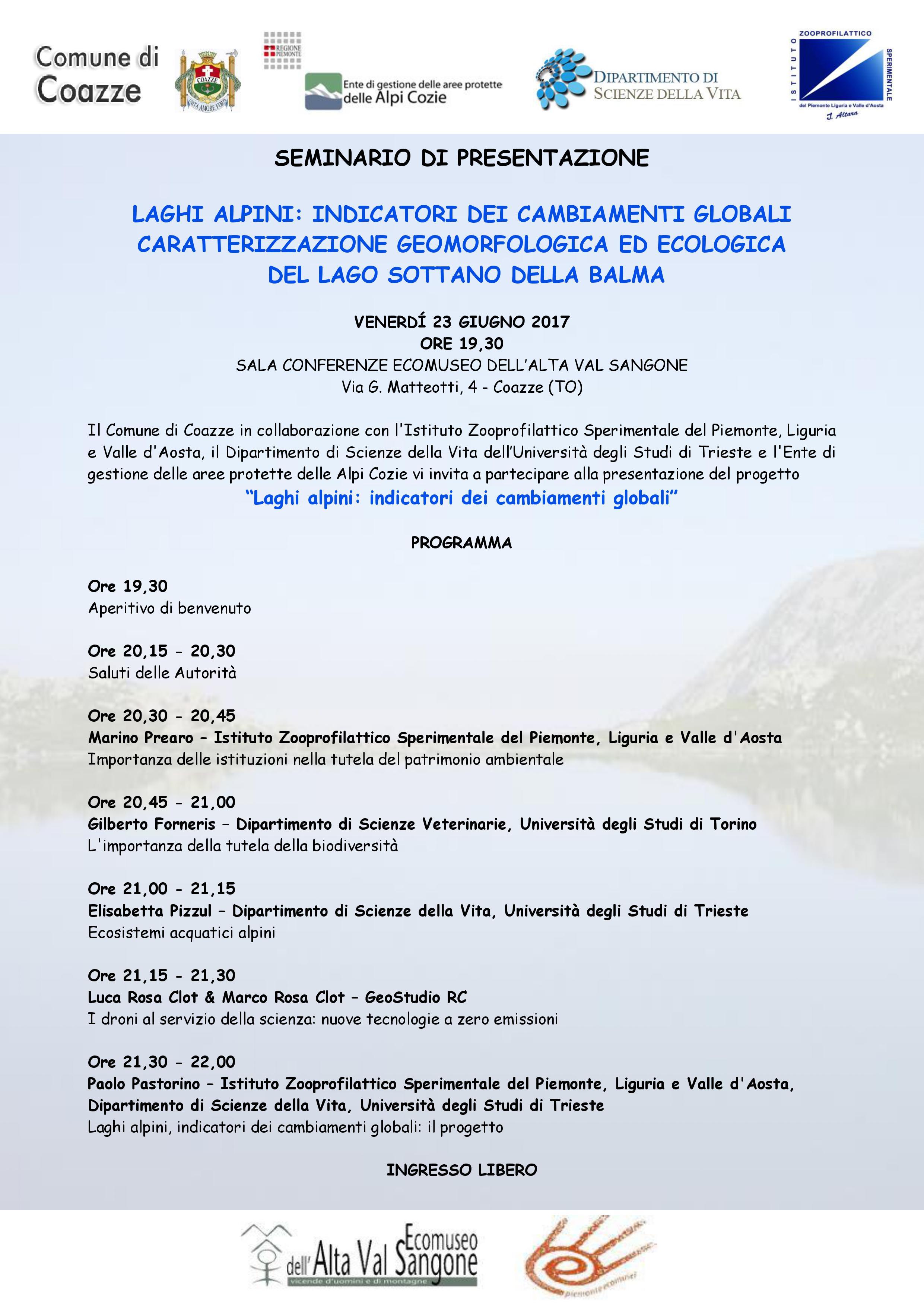 LAGHI ALPINI: INDICATORI DEI CAMBIAMENTI GLOBALI