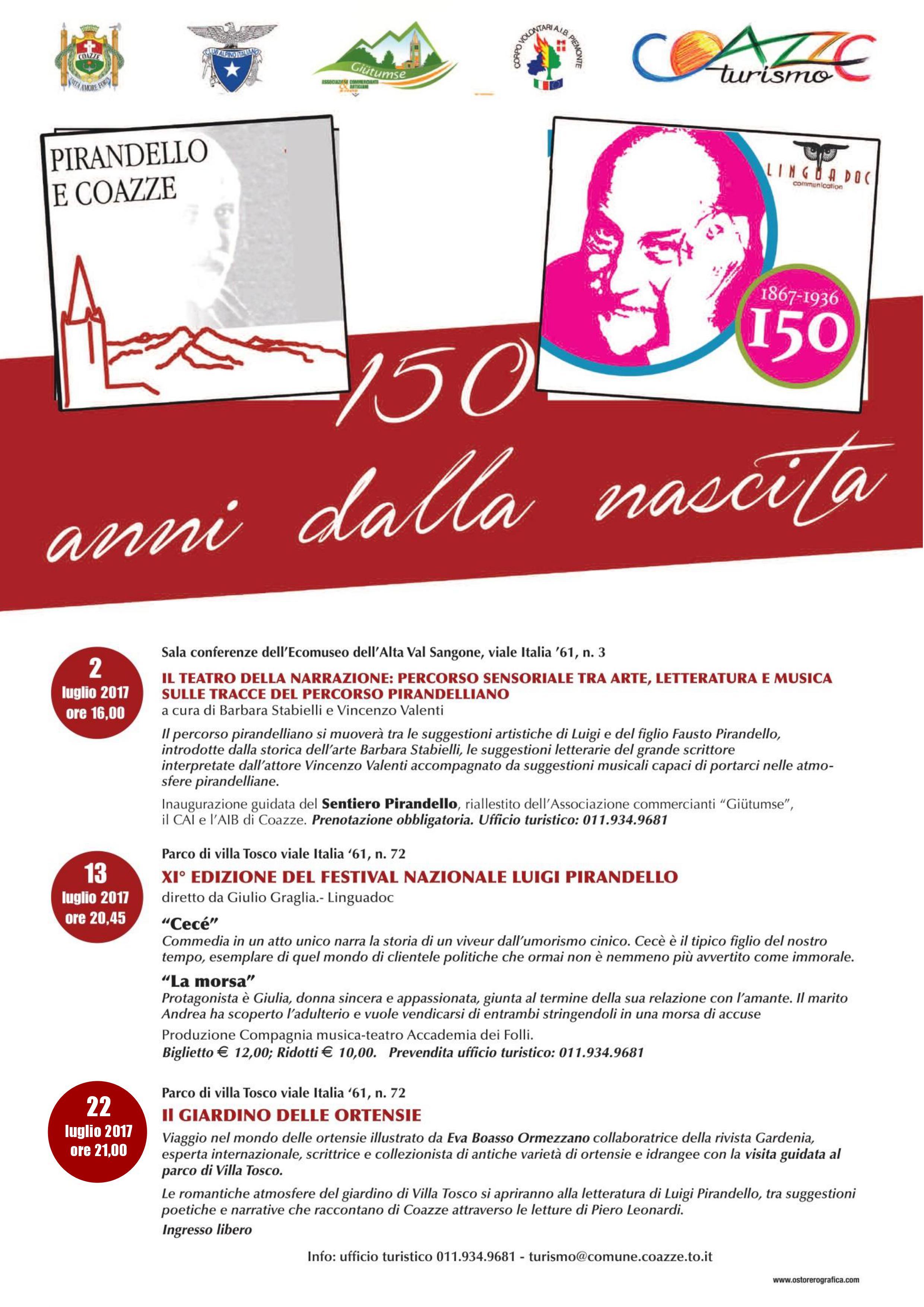 150ESIMO DELLA NASCITA DI PIRANDELLO