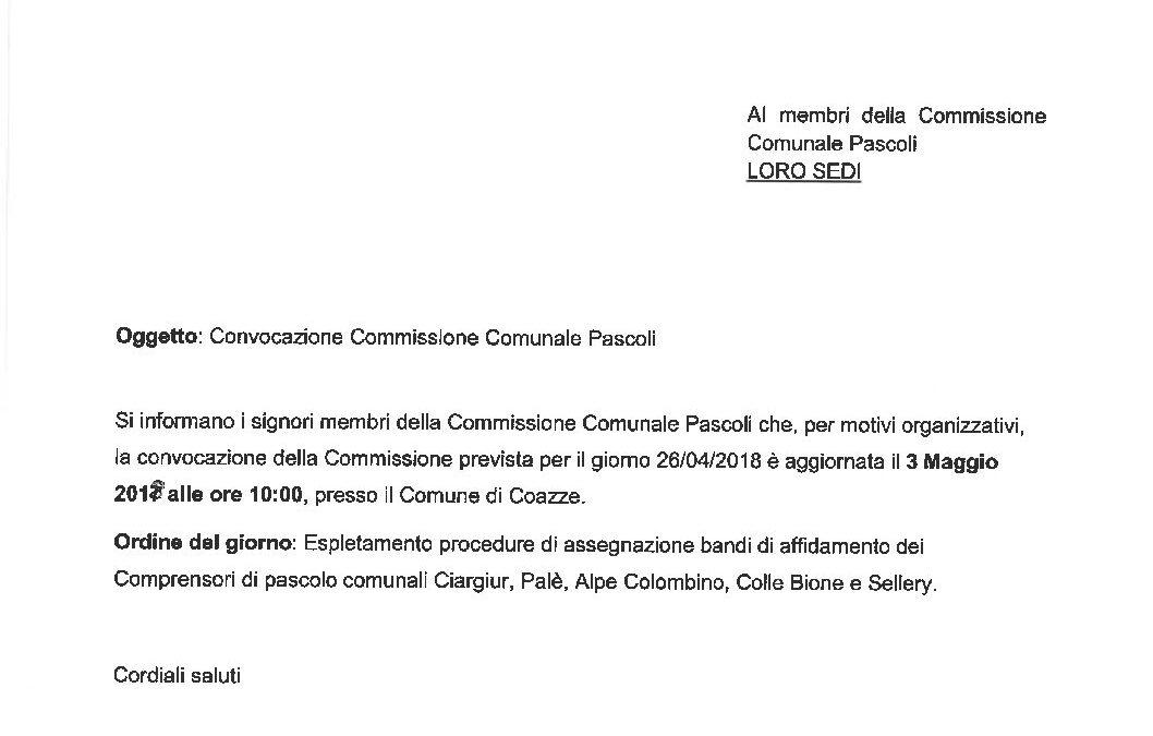 Commissione bandi pascolo