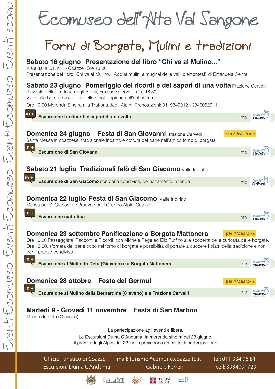 CHI VA AL MULINO… ACQUE MULINI E MUGNAI DELLE VALLI PIEMONTESI