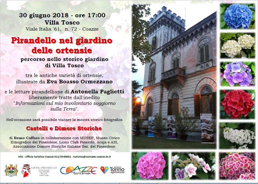 XII Festival Luigi Pirandello – 30 giugno – Pirandello nel giardino delle ortensie