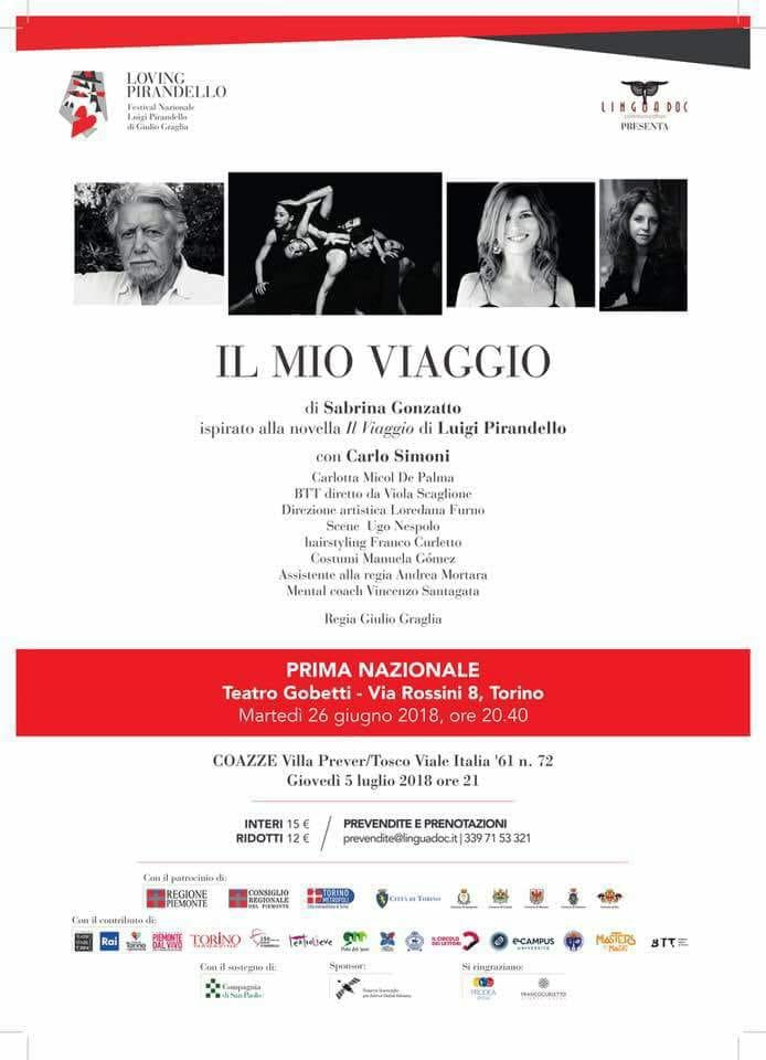 XII FESTIVAL NAZIONALE PIRANDELLO – IL MIO VIAGGIO – VILLA TOSCO 5 LUGLIO