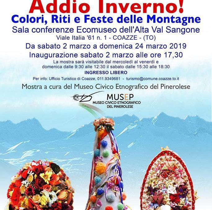2 marzo ore 17:30 inaugurazione della mostra ADDIO INVERNO