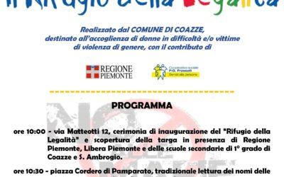 """22 marzo – inaugurazione del """"rifugio della legalità"""", bene sequestrato alla mafia"""