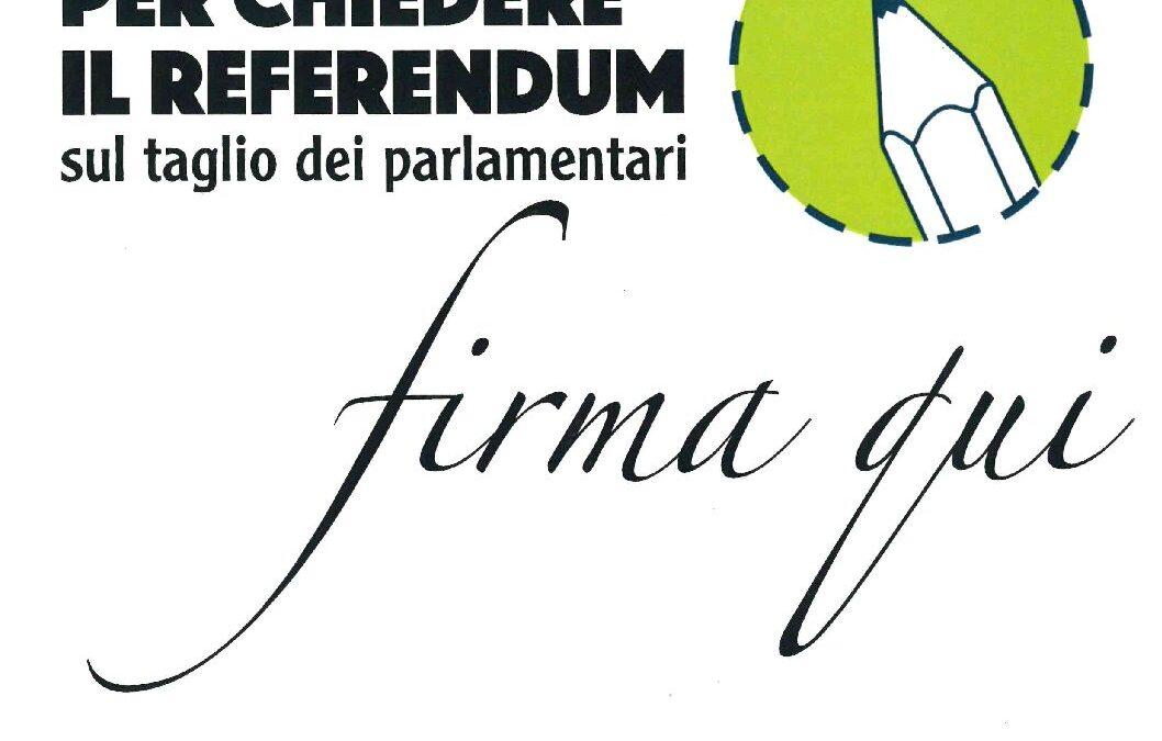 Volantino raccolta firme Referendum 2019