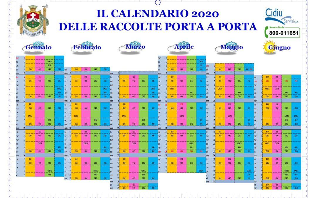 calendario 2020 Coazze