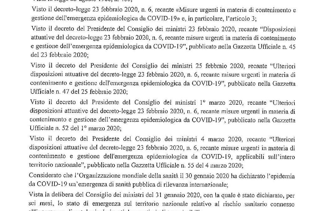 DPCM 08 MARZO 2020