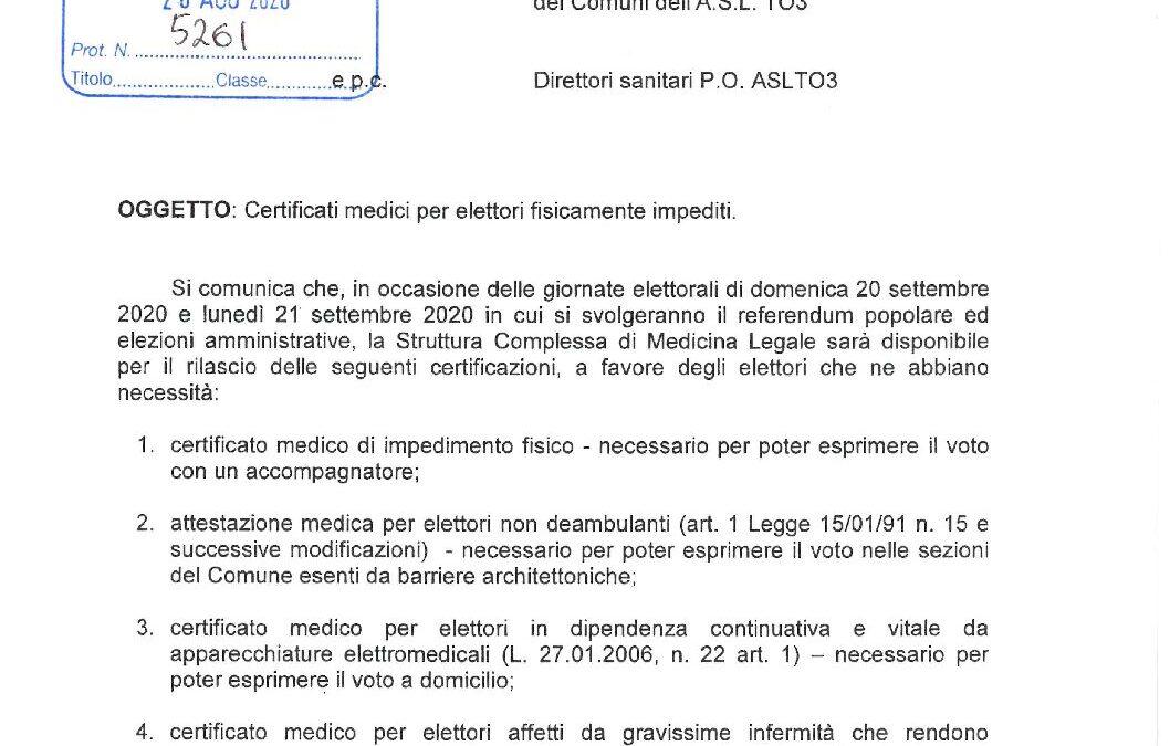 Comunicazione ASL Dipartimento medicina legale