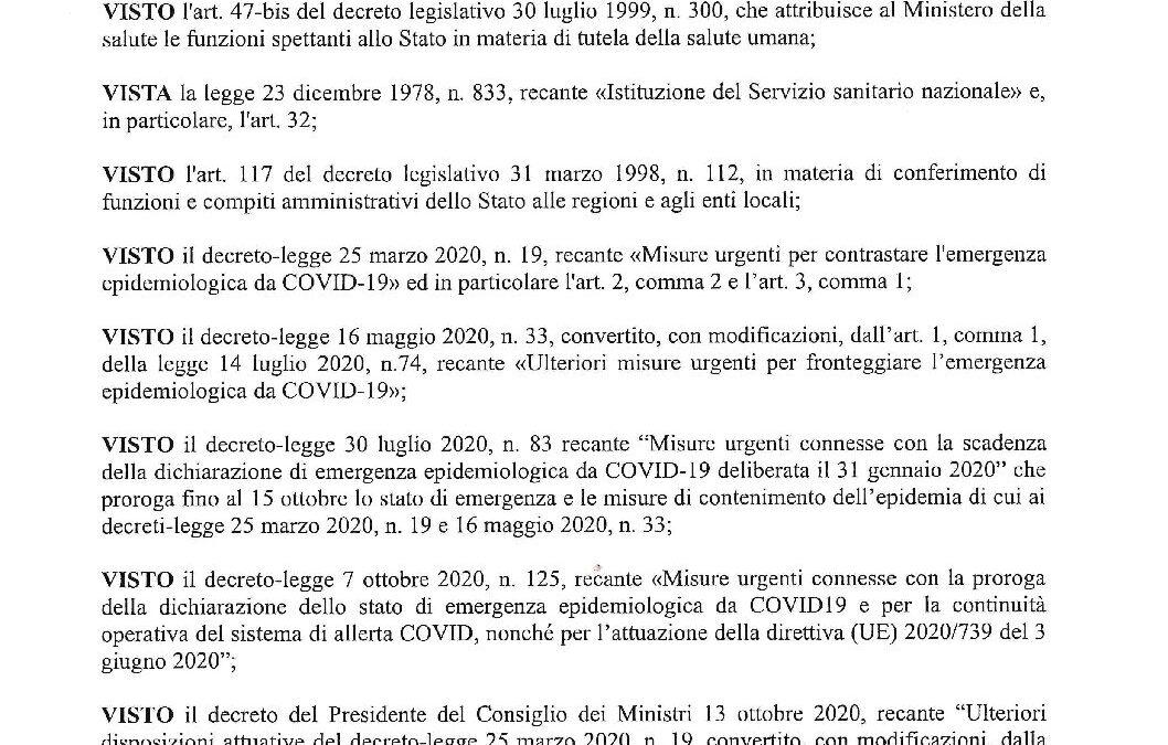 DPGR 23.10.2020 AUTOCERTIFICAZIONE