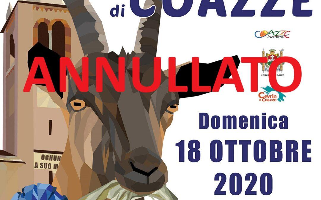 ANNULLAMENTO Festa Rurale del Cevrin di Coazze